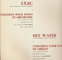 EAU, POEME SYMPHONIQUE (+ TOUSSAINT DE SUTTER: CTO PIANO)