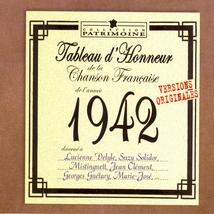 TABLEAU D'HONNEUR DE LA CHANSON FRANÇAISE 1942