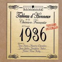 TABLEAU D'HONNEUR DE LA CHANSON FRANCAISE 1936