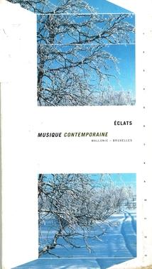 ECLATS MUSIQUE CONTEMPORAINE WALLONIE-BRUXELLES