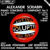 """CONCERTO PIANO OP.20 / SYMPHONIE 3 """"LE DIVIN POEME""""OP.43"""