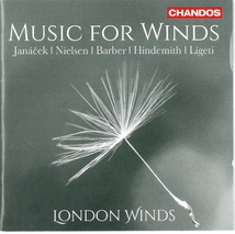 MUSIC FOR WINDS (LIGETI/ NIELSEN/ BARBER/ HINDEMITH/ JANACEK