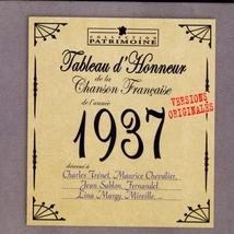 TABLEAU D'HONNEUR DE LA CHANSON FRANCAISE 1937