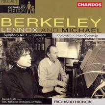 SYMPHONIE 1 / SERENADE (+ MICHAEL BERKELEY)