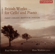 BRITISH WORKS FOR CELLO AND PIANO VOL.1 (+ DELIUS, FOULDS..)