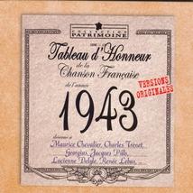 TABLEAU D'HONNEUR DE LA CHANSON FRANCAISE 1943