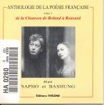 ANTHOLOGIE DE LA POÉSIE FR.: LA CHANSON DE ROLAND À RONSARD