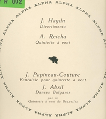 ABSIL,HAYDNMPAPINEAU-COUTURE,REICHA