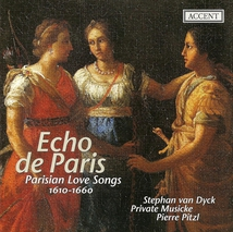 ECHO DE PARIS (CHANSONS D'AMOUR 1610-1660)