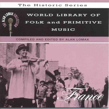 WORLD LIBRARY OF FOLK & PRIMITIVE MUSIC: FRANCE
