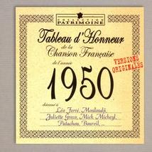 TABLEAU D'HONNEUR DE LA CHANSON FRANCAISE 1950