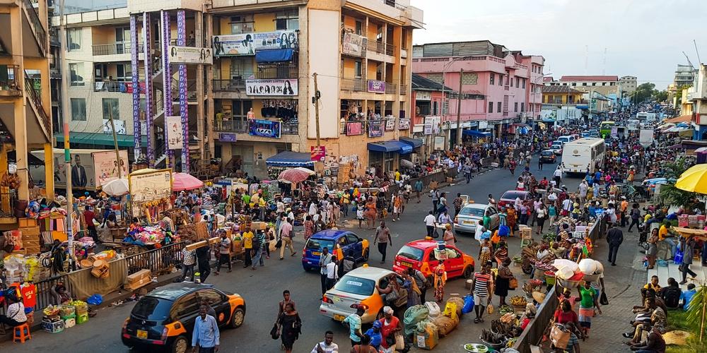 Centre d'Accra, Ghana, une photo de Muntaka Chasant