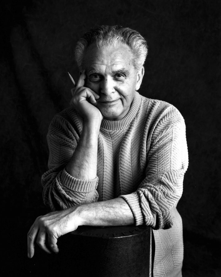 12. Kirby Jack Kirby, photographed by Susan Skaar during a session in the studio at Jack's home in Thousand Oaks, CA, 1992 © CC BY-SA 3.0