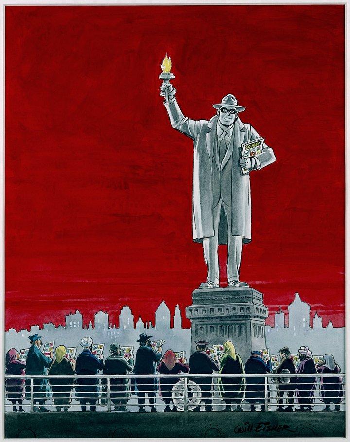 Will Eisner, The Spirit. Watercolour on cardboard, 2001 © Ann Eisner