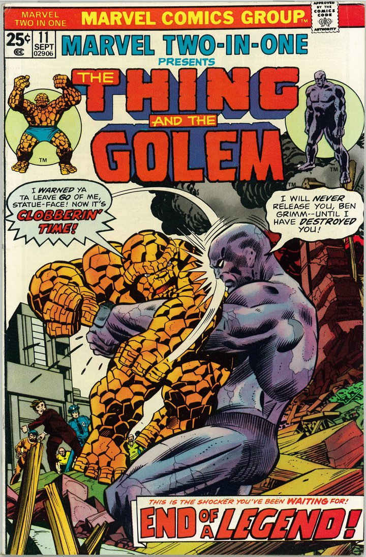 Bob Brown, The Thing and The Golem, 1975 © Marvel Comics Group