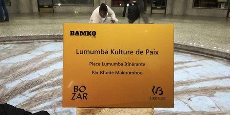 Plaque commémorative Patrice Lummumba