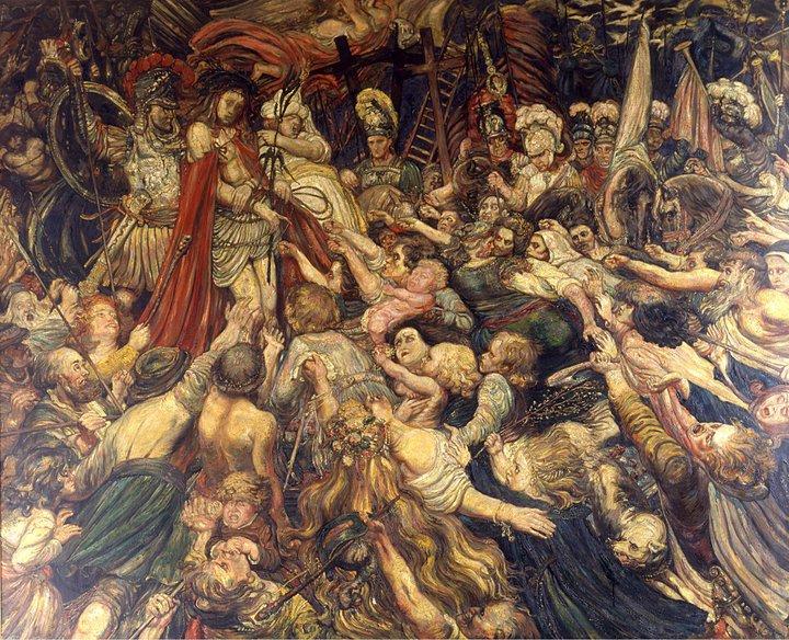 Henry de Groux - Le Christ aux outrages - collection Ville Avignon - Palais du Roure