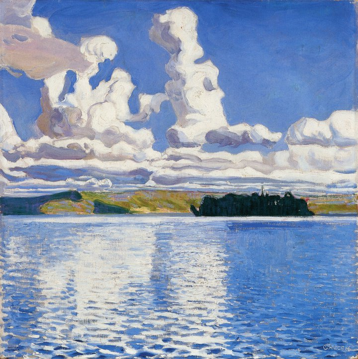"Akseli Gallen-Kallela : ""Pilvi tornit"" (1904)"