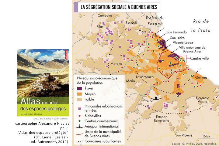 Alexandre Nicolas - cartographie de la ségrégation sociale à Buenos Aires (ed. Autrement)