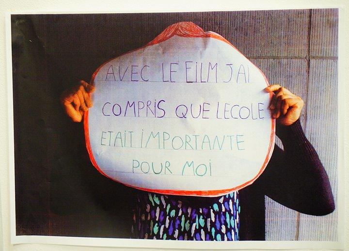 """Art et Alpha - exposition Sans frontières - """"avec le film j'ai compris que j'aimais l'école"""""""