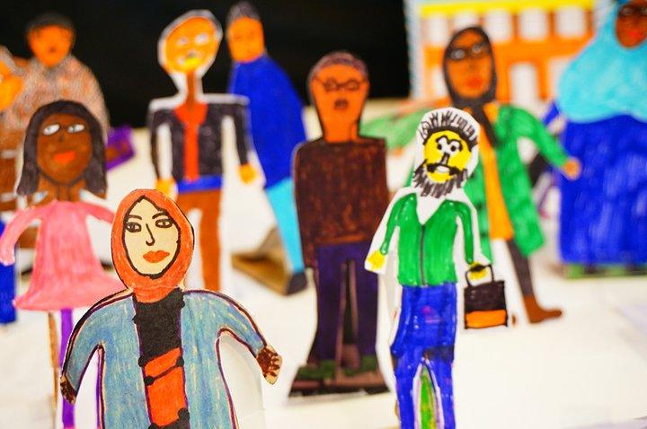 Art et Alpha - exposition Sans frontieres - stop motion groupe d'apprenants