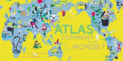 Atlas - Comment va le monde ? - Actes sud junior - couverture