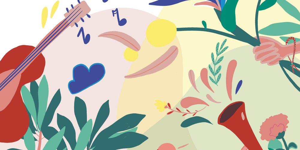 festival BRuMM 2020 - affiche - illustration Caroline Vermeulen