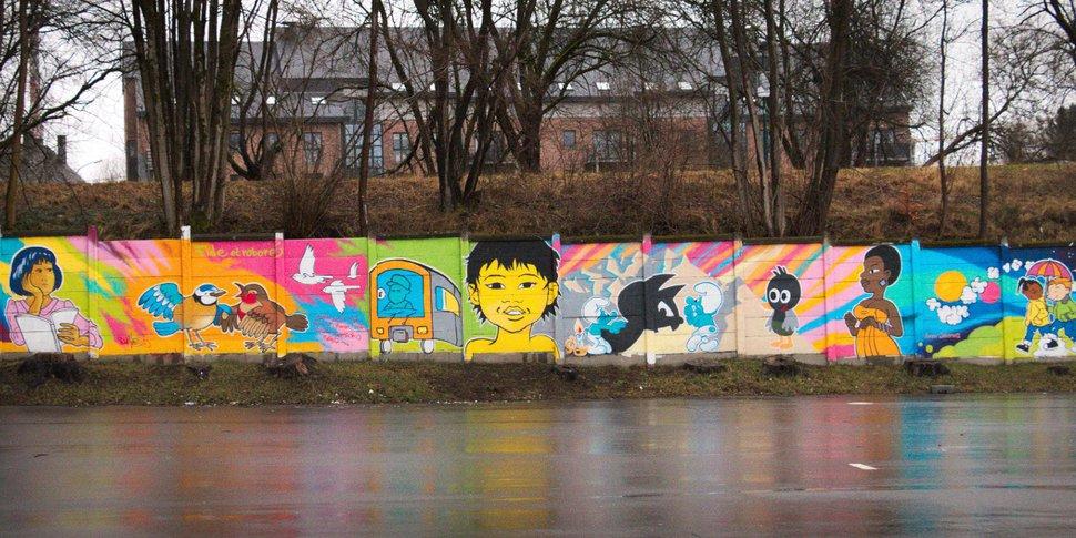 Bastogne - fresque street art
