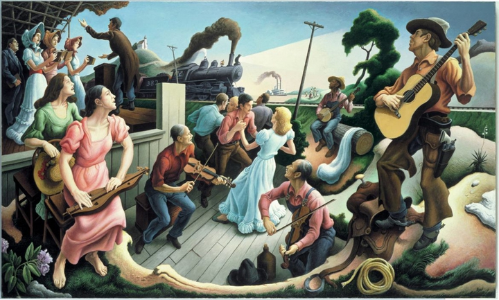 Thomas Hart Benton, The sources of country music