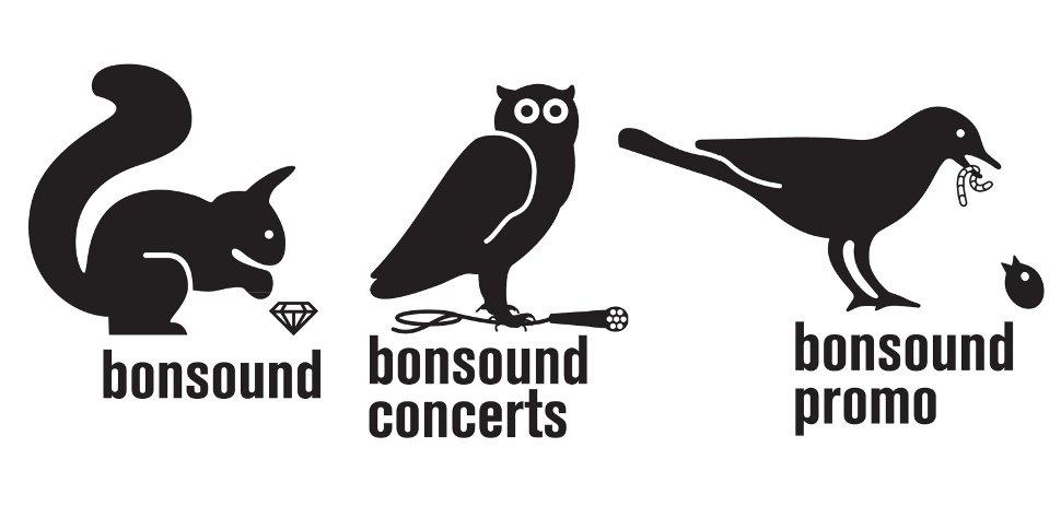 label Bonsound - trois logos