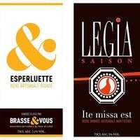 Brasse & Vous - étiquettes des bières Esperluette et Légia