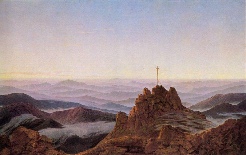 Caspar David Friedrich - Morgen im Riesengebirge