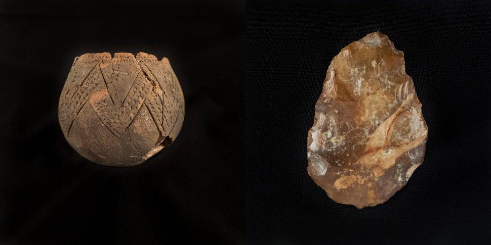 Préhistomuseum Flémalle - poterie rubanée et biface 2et3 - Céline Bataille