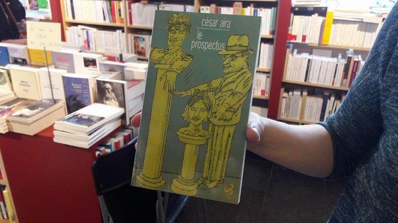 César Aira - Le Prospectus à la librairie Point Virgule - Namur