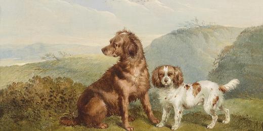 Chiens, chiennes, toutous et autres canidé·es Du son sur tes tartinesCharles _  Jones Two dogs 1857
