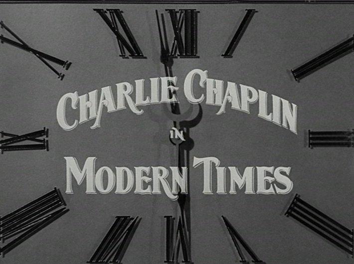Les Temps modernes - Charlie Chaplin - horloge 2