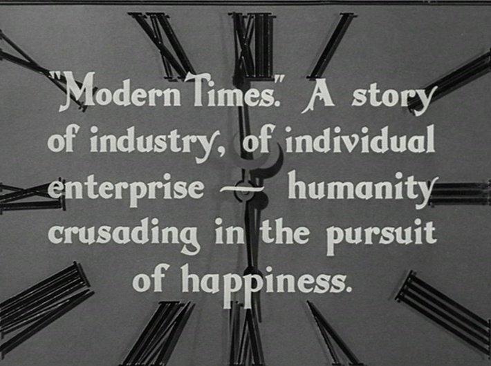 Les Temps modernes - Charlie Chaplin - horloge 3