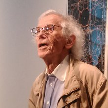 Christo à l'exposition à l'ING Art Center - Bruxelles 2017