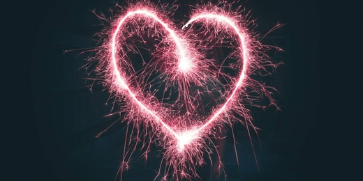 Coeur feu d'artifice grand