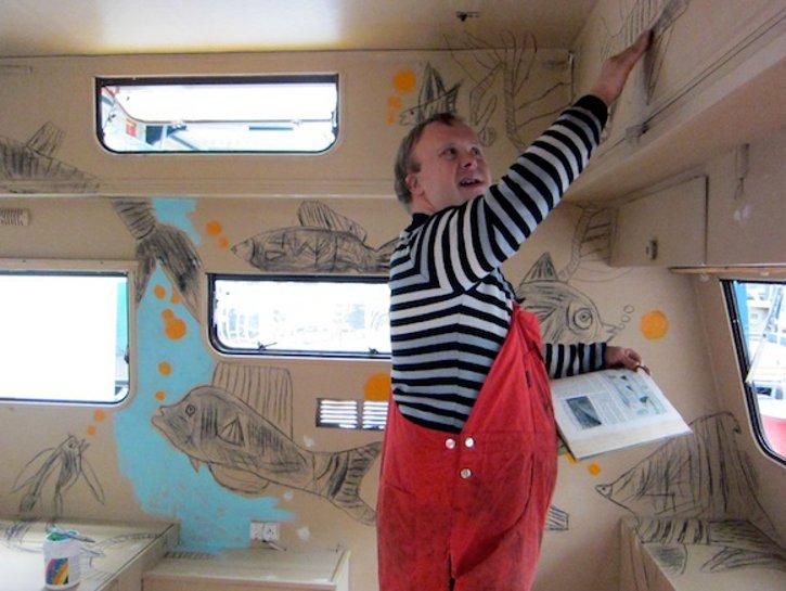 la caravane aux poissons d'Alain Meert - (c) peinturepeinture