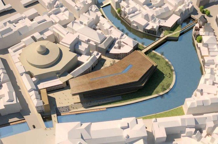 De Krook - maquette du bâtiment et des aménagements
