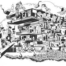 Bibliothèque De Krook par l'illustrateur gantois Peter Goes