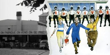 Des révoltes qui font date no 21 - Lip, LImagination au pouvoir - Christian Rouaud / dessin Baru