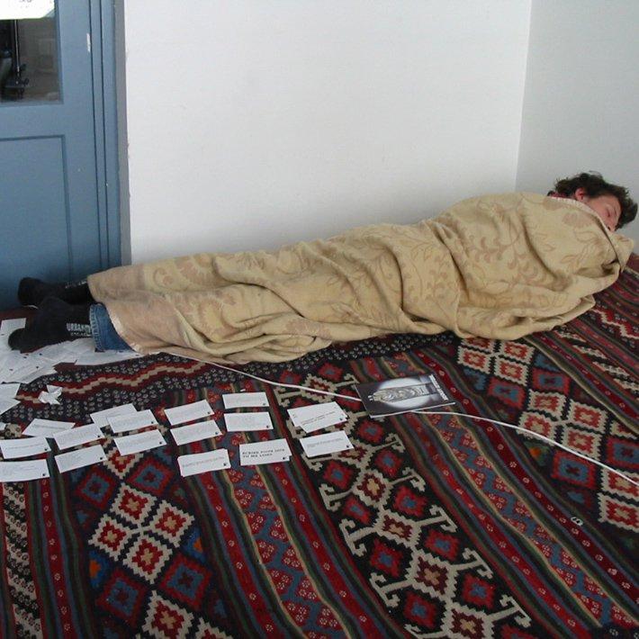 Recyclart - Zerfall - placard 2003 - photo Fabonthemoon