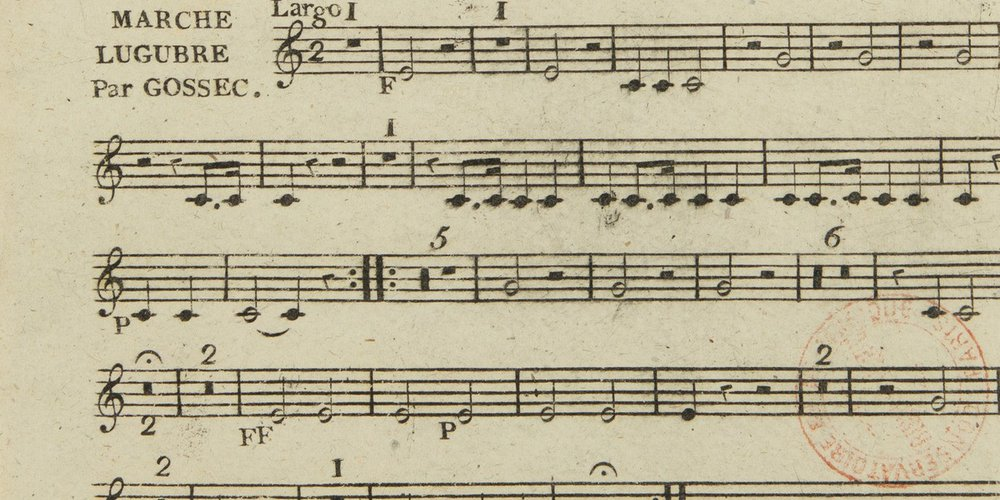 """Francois-Joseph Gossec : """"Marche lugubre"""" (partition)"""