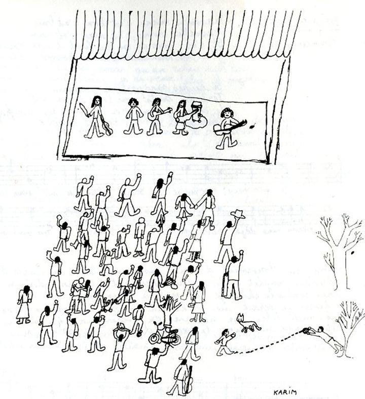 GAM dessin de Karim - pochette double LP 004