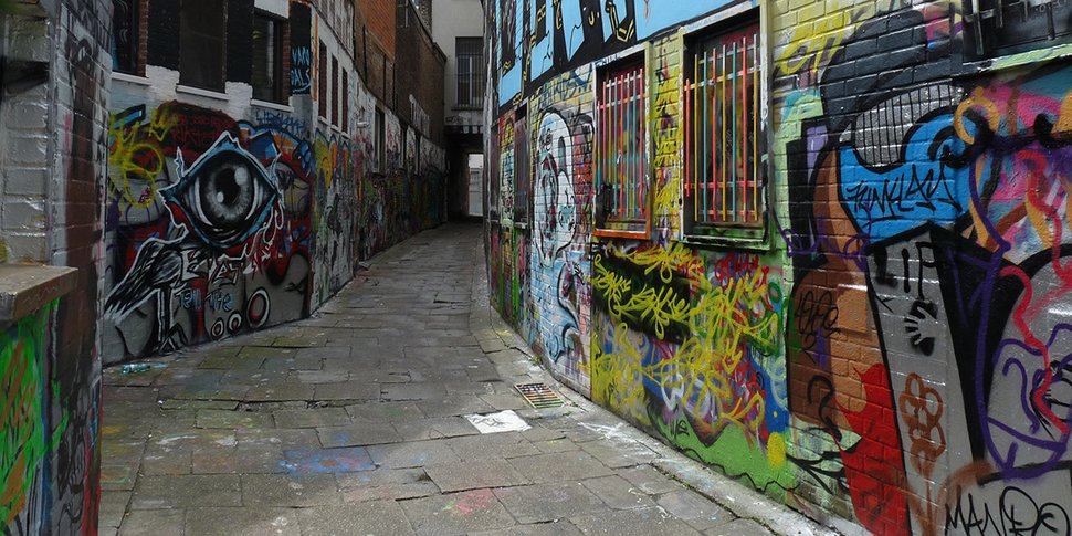 Gand - ruelle des graffitis - Werregarenstraat - photo CC AwOiSoAk KaOsIoWa