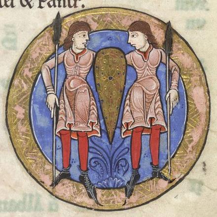Gémeaux Enluminure provenant du Psautier Hunter, 1170, artiste anonyme Horoscope Médiascope Gémeaux Du son sur tes tartines