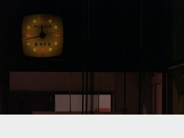 In the Mood for Love - (c) Wong Kar-wai - horloge 5