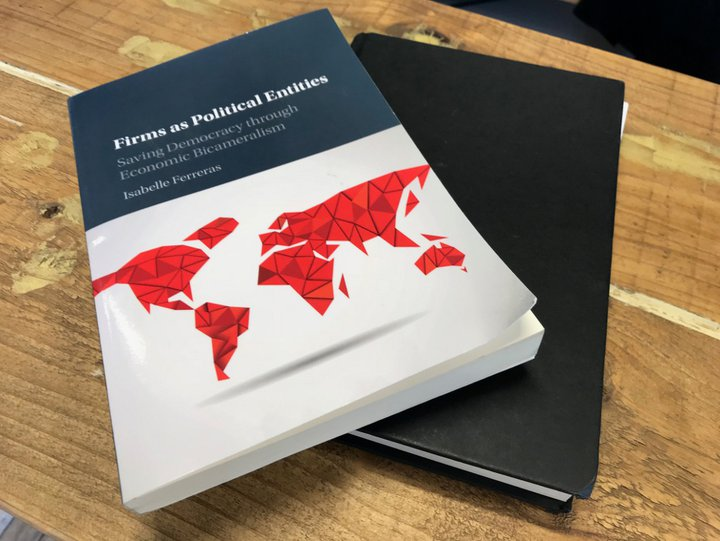 "Isabelle Ferreras - couverture du livre ""Firms as Political Entities"""